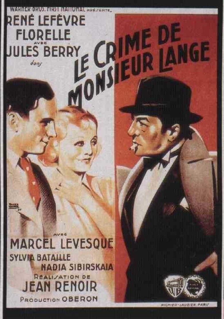 The Crime of Monsieur Lange movie poster