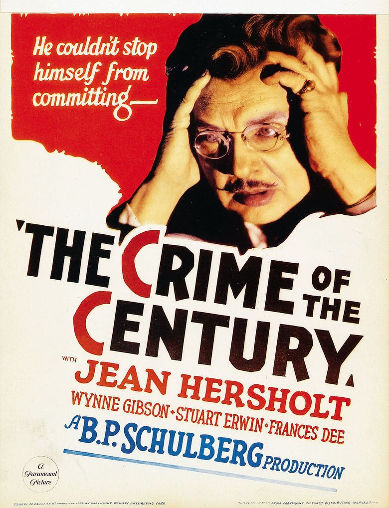 The Crime of the Century (1933 film) movie poster