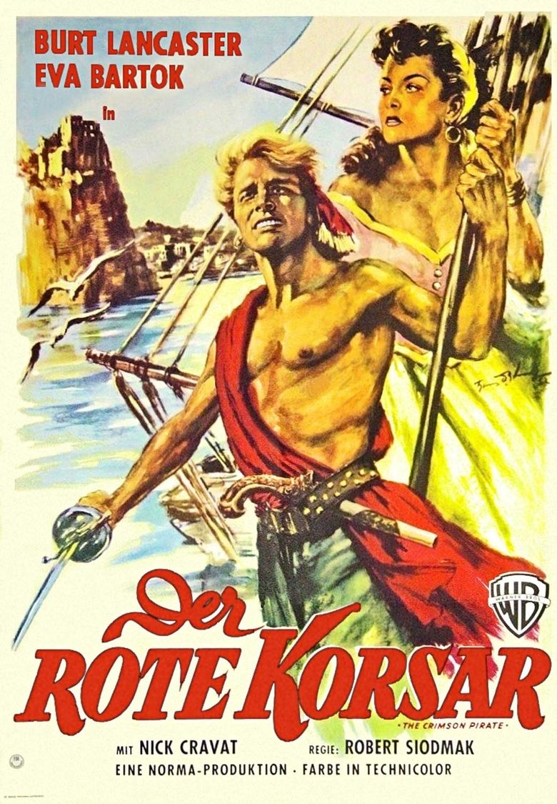 The Crimson Pirate movie poster