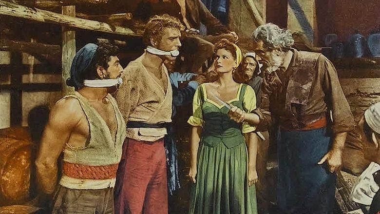 The Crimson Pirate movie scenes