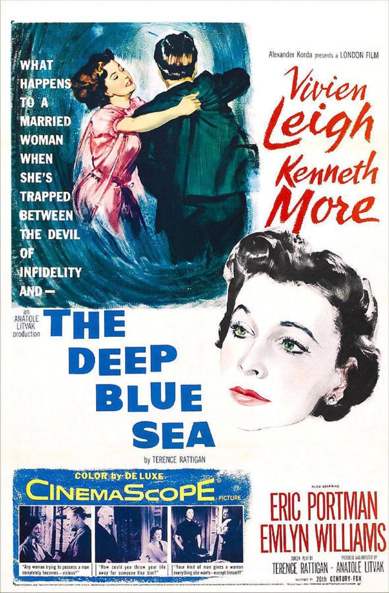 The Deep Blue Sea (1955 film) movie poster