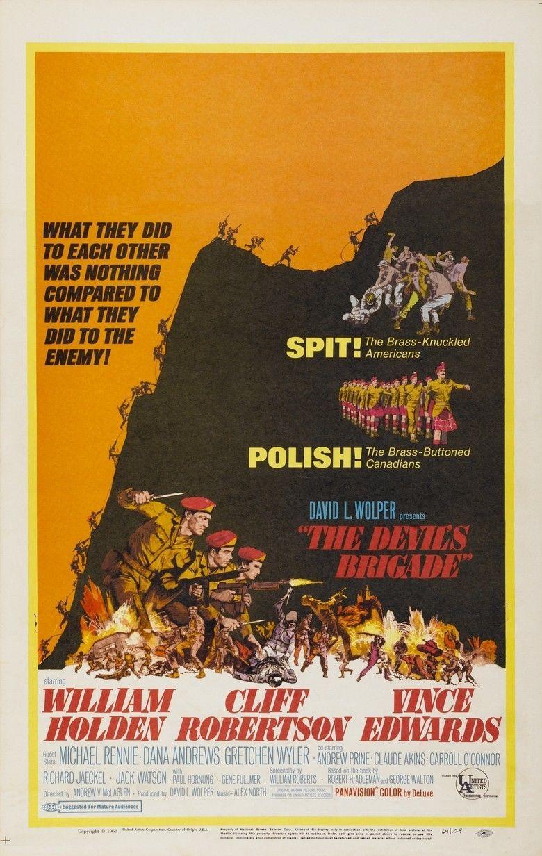 The Devils Brigade (film) movie poster