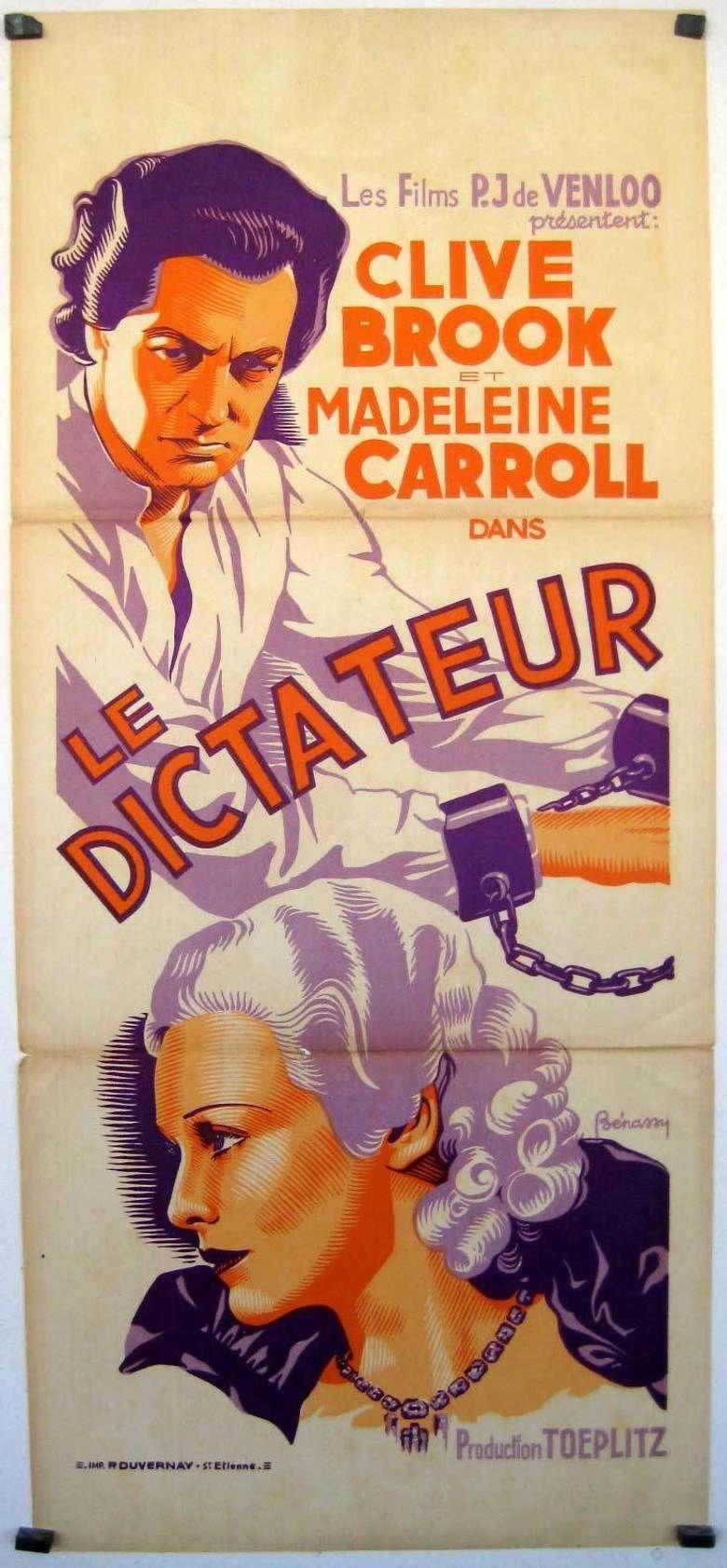 The Dictator (1935 film) movie poster