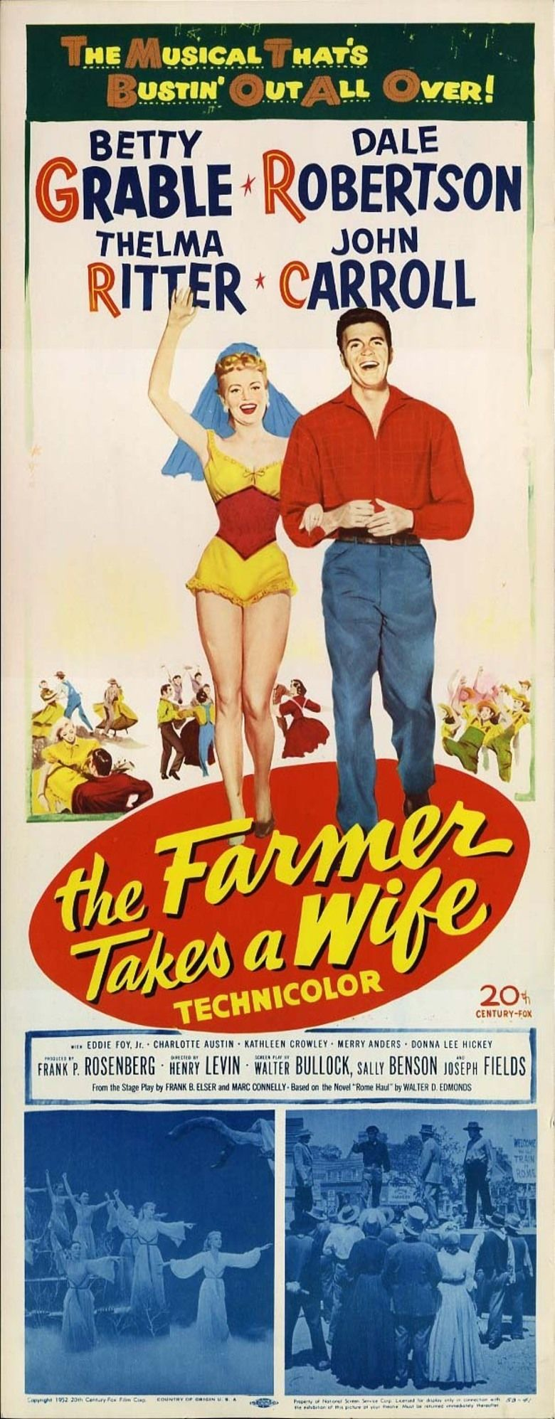 The Farmer Takes a Wife (1953 film) movie poster