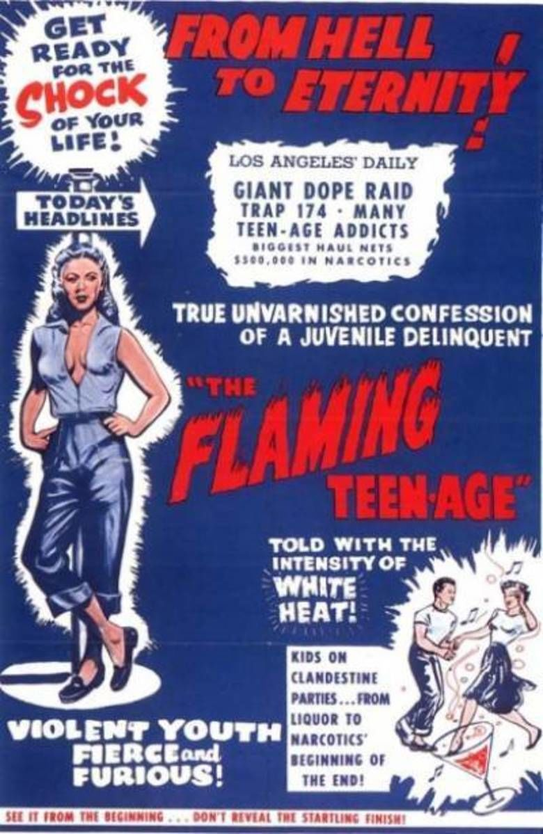 The Flaming Teen Age movie poster