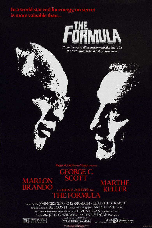 The Formula (1980 film) movie poster