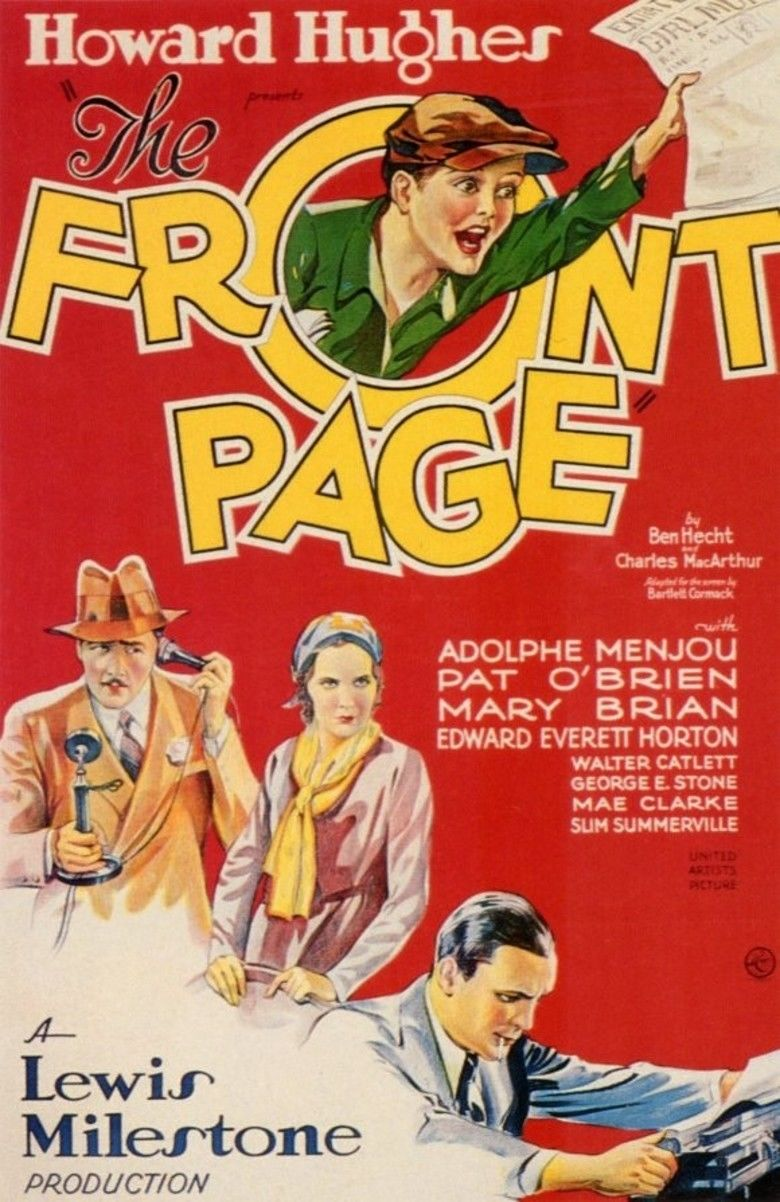 The Front Page (1931 film) movie poster