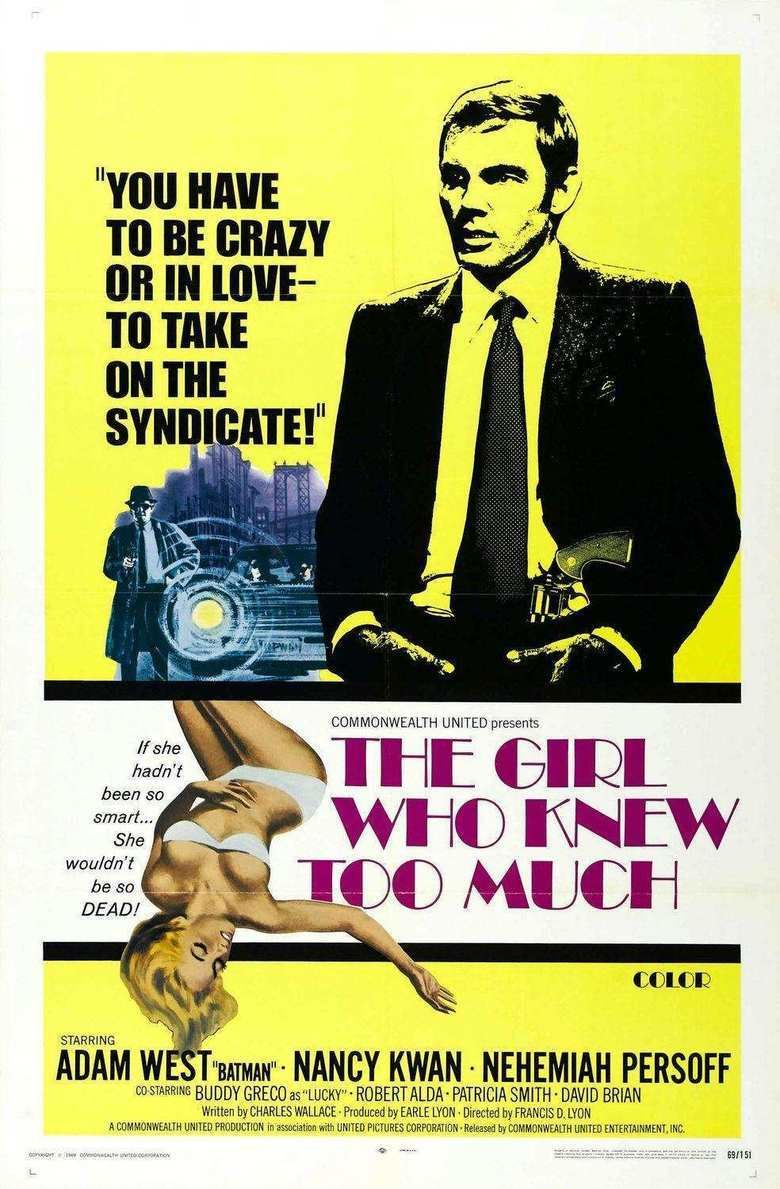 The Girl Who Knew Too Much (1969 film) movie poster