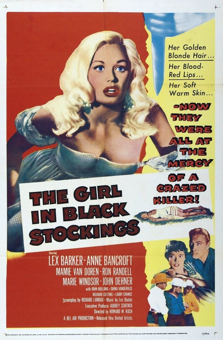 The Girl in Black Stockings movie poster