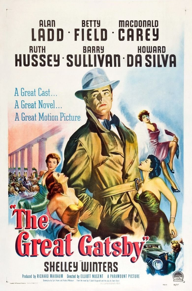 The Great Gatsby (1949 film) movie poster