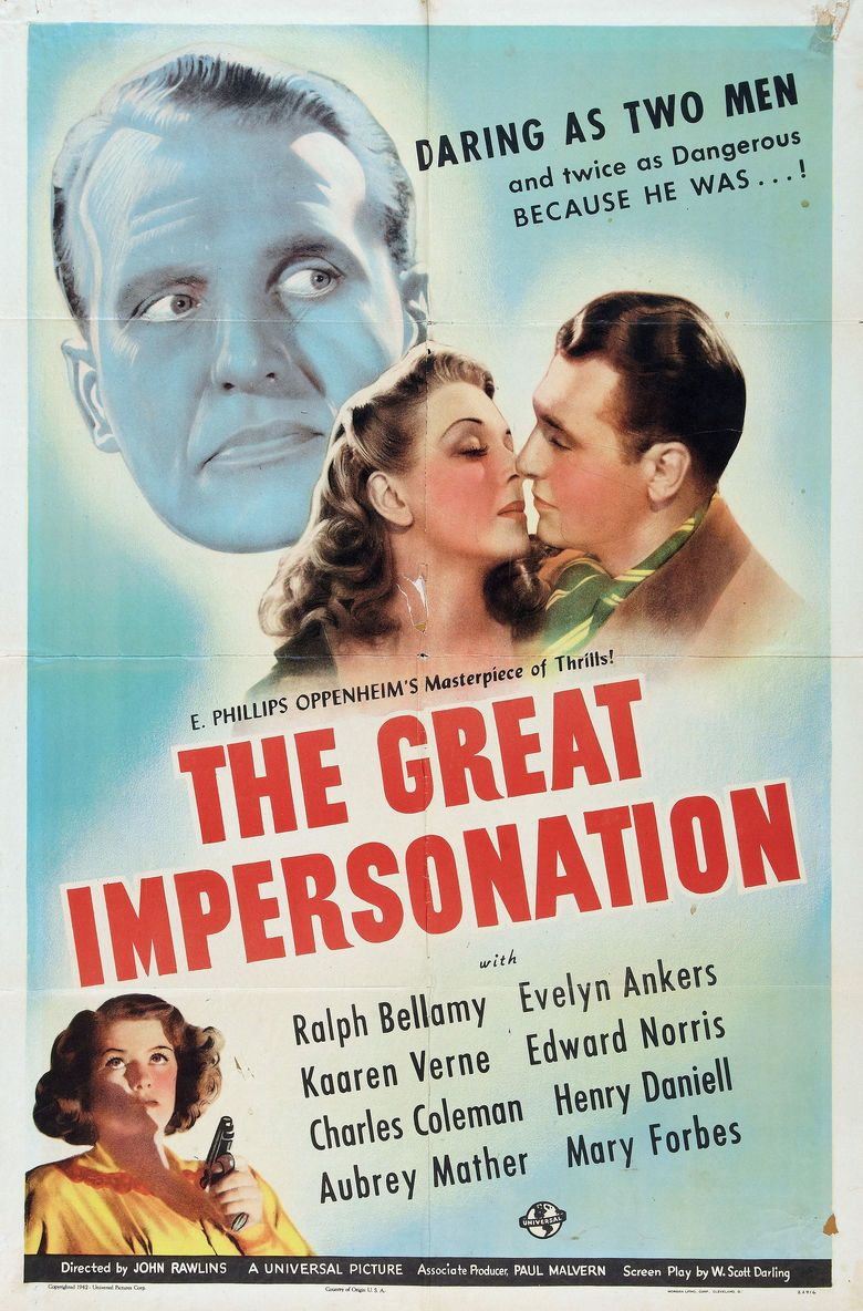 The Great Impersonation (1942 film) movie poster