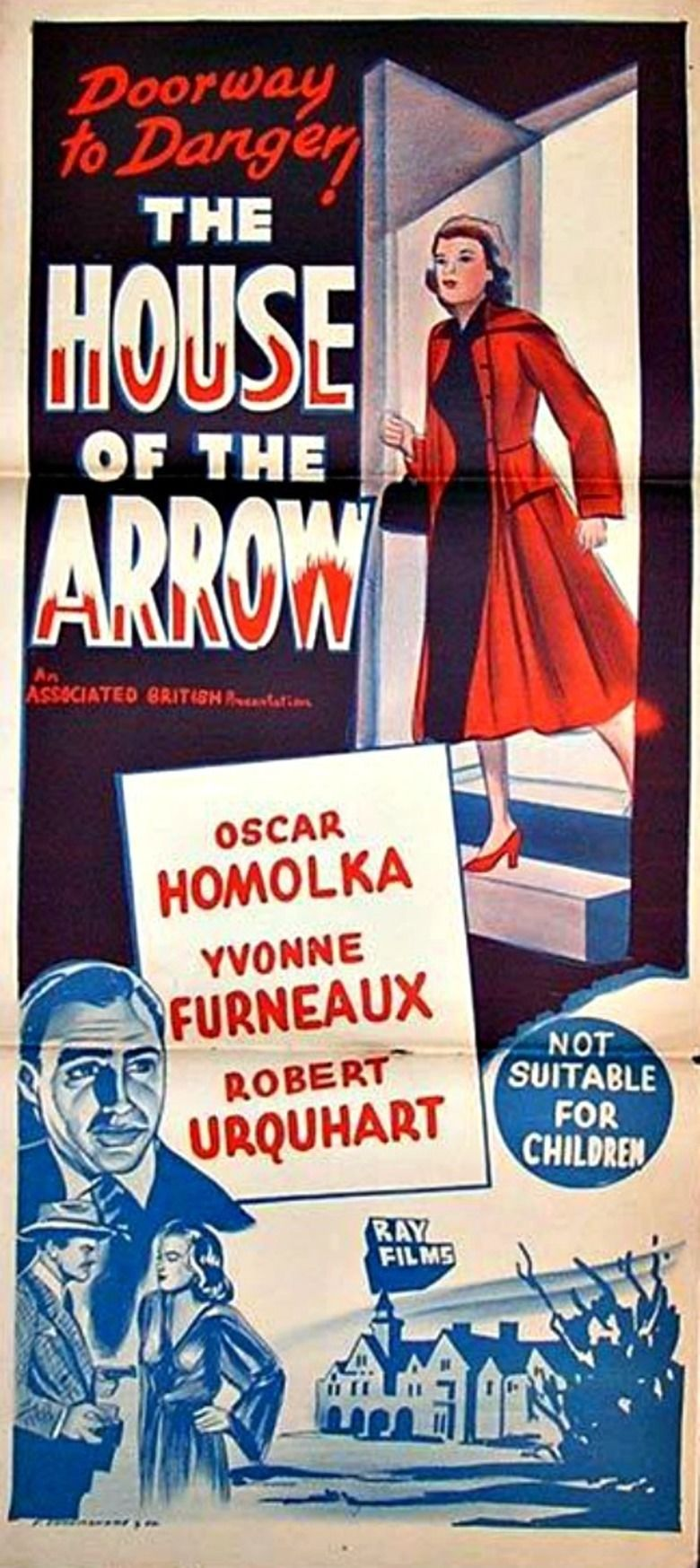The House of the Arrow (1953 film) movie poster