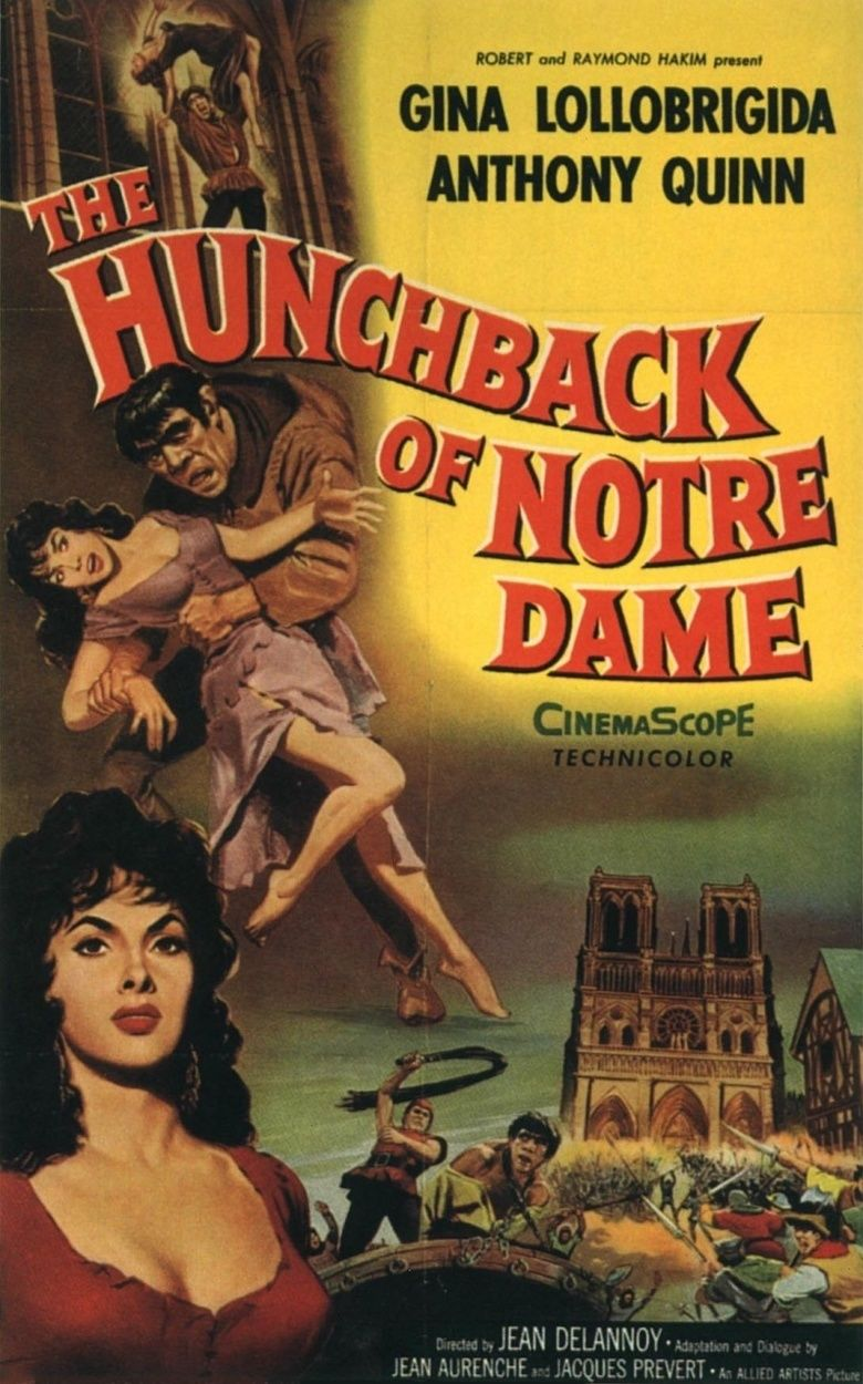 The Hunchback of Notre Dame (1956 film) movie poster