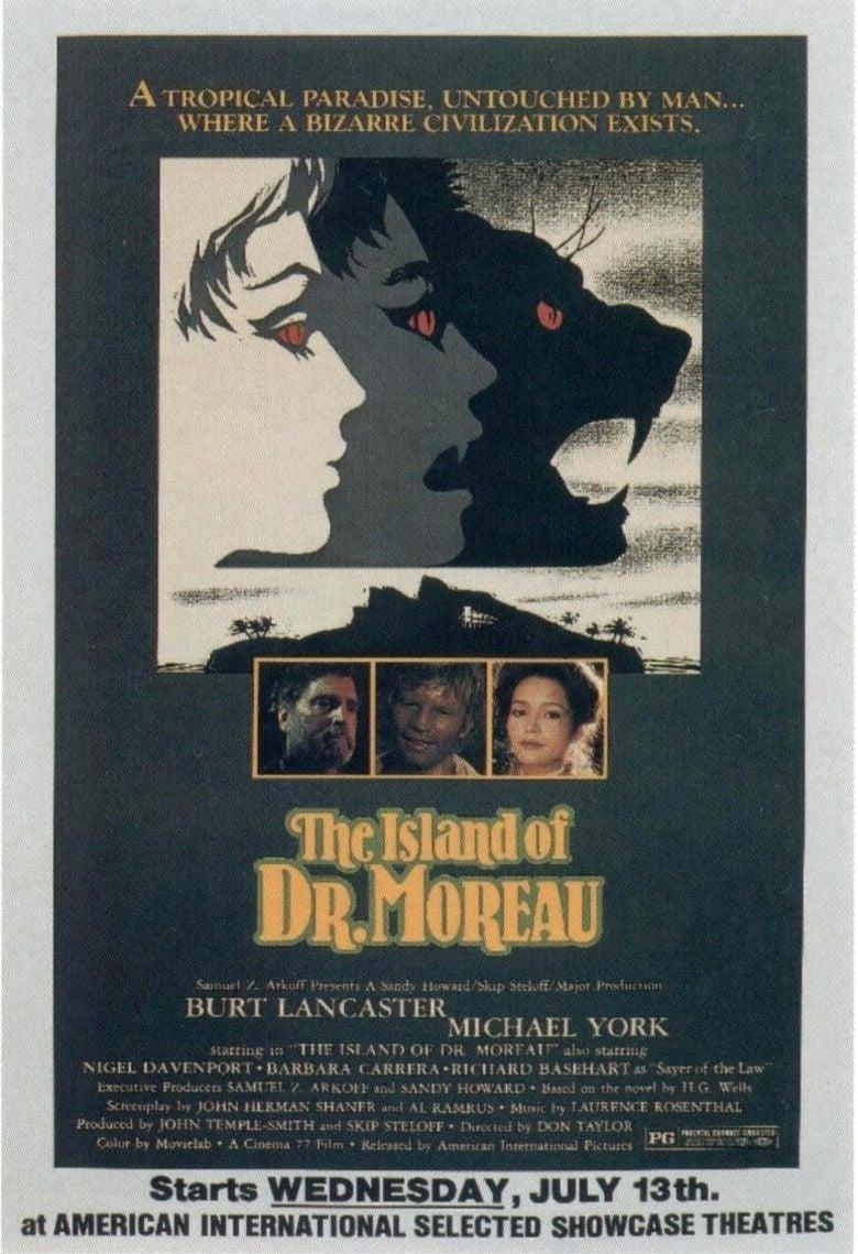 The Island of Dr Moreau (1977 film) movie poster