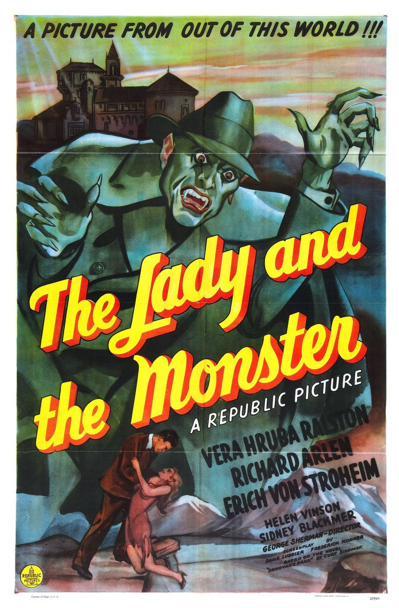 The Lady and the Monster movie poster