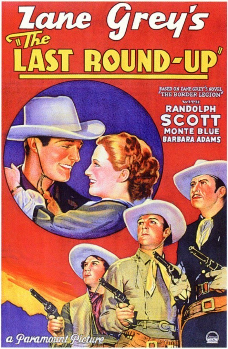 The Last Round Up (1934 film) movie poster