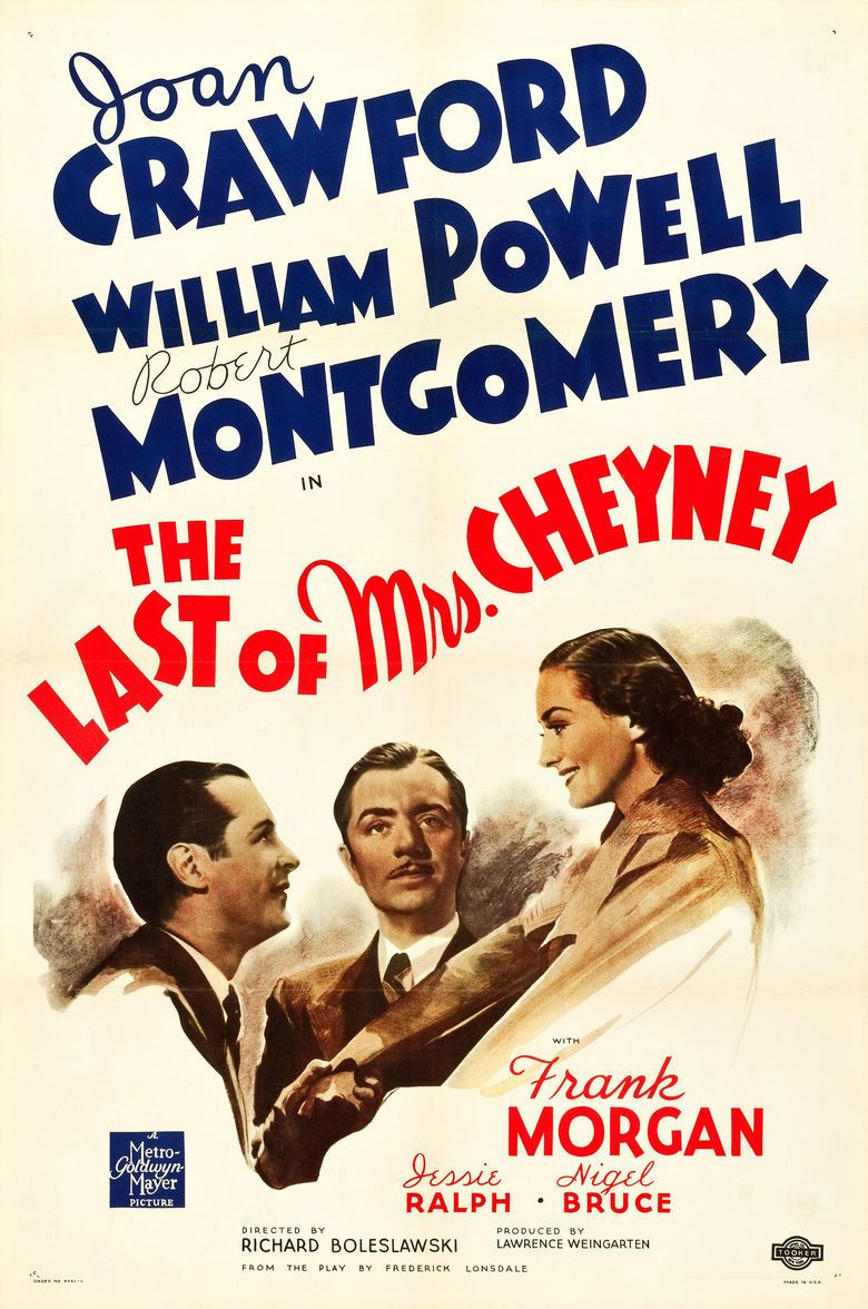 The Last of Mrs Cheyney (1937 film) movie poster