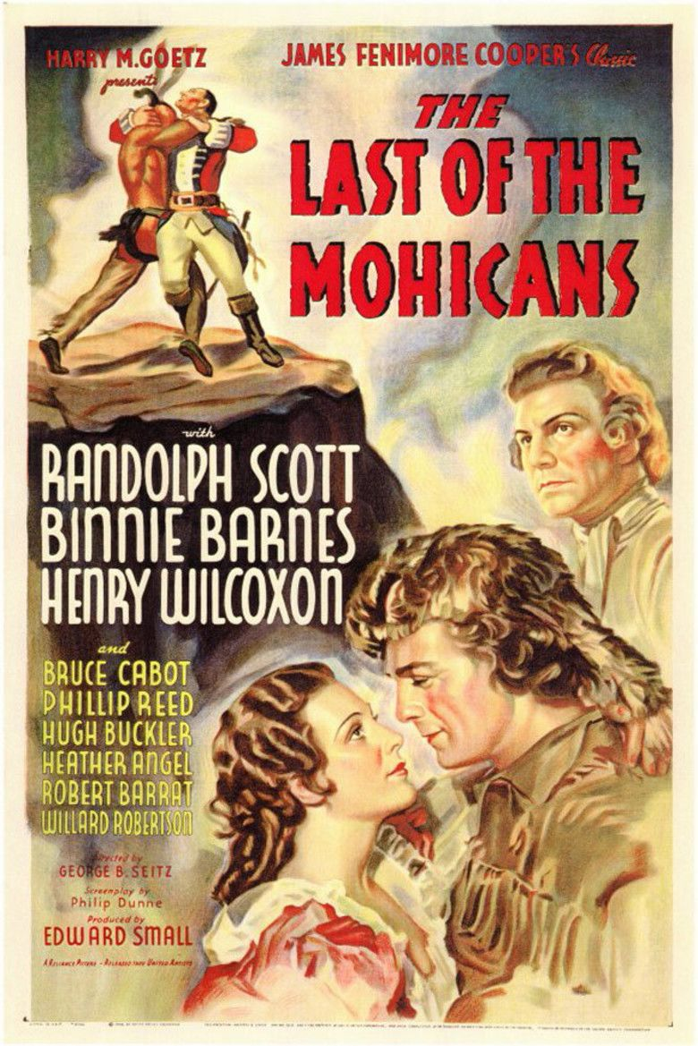 The Last of the Mohicans (1936 film) movie poster