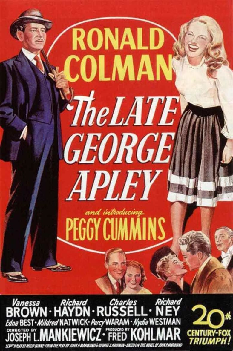 The Late George Apley (film) movie poster