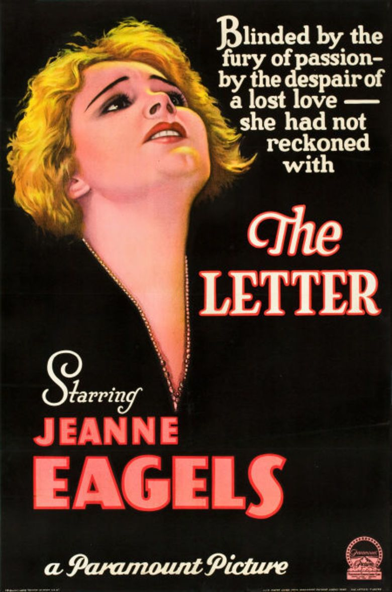 The Letter (1929 film) movie poster