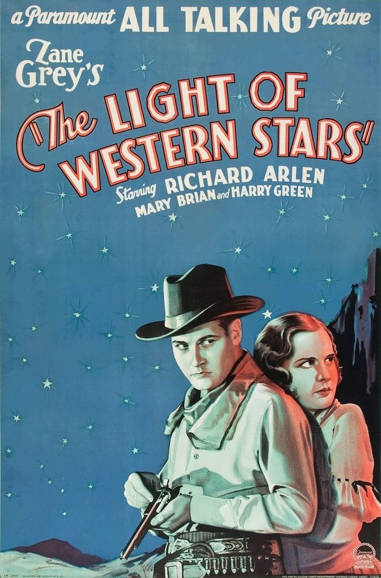 The Light of Western Stars (1930 film) movie poster