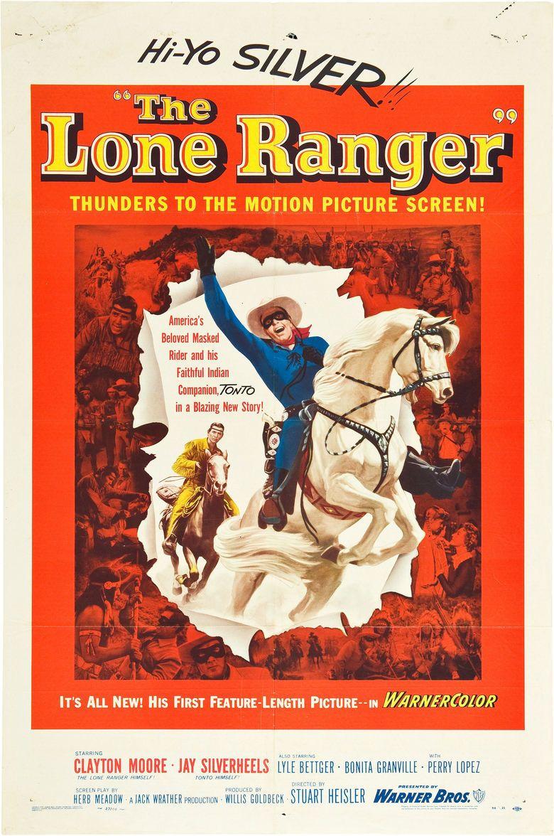 The Lone Ranger (1956 film) movie poster