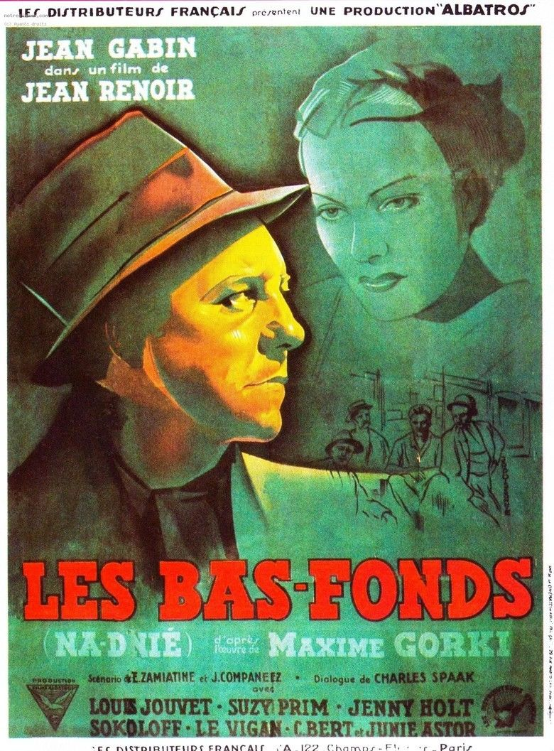 The Lower Depths (1936 film) movie poster