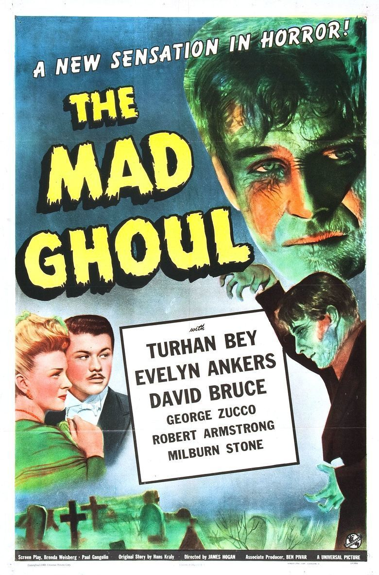 The Mad Ghoul movie poster