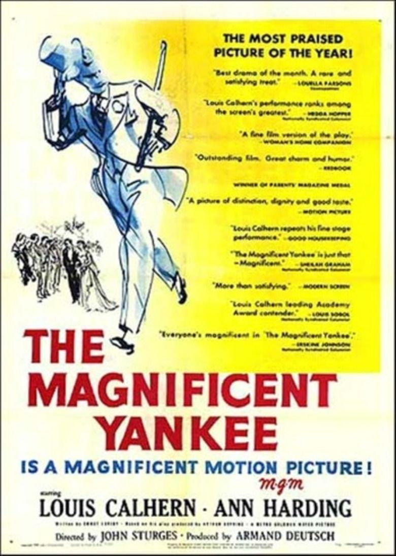 The Magnificent Yankee (1950 film) movie poster