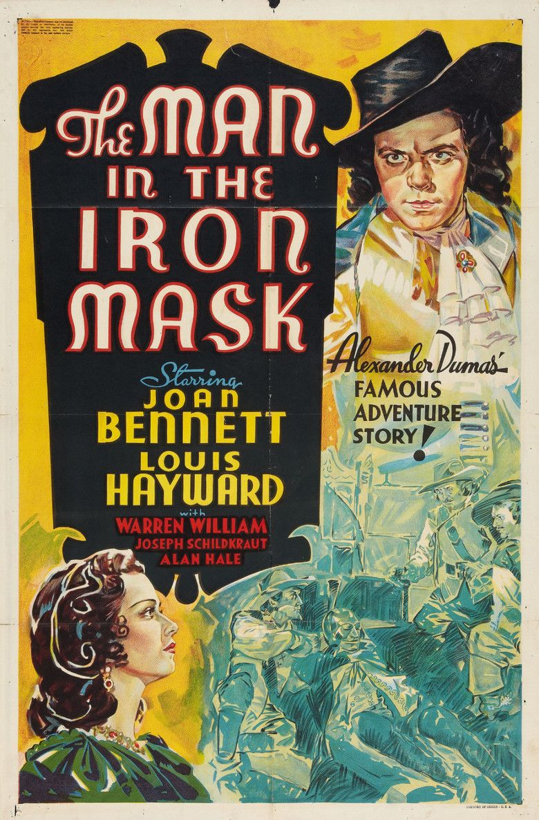 The Man in the Iron Mask (1939 film) movie poster