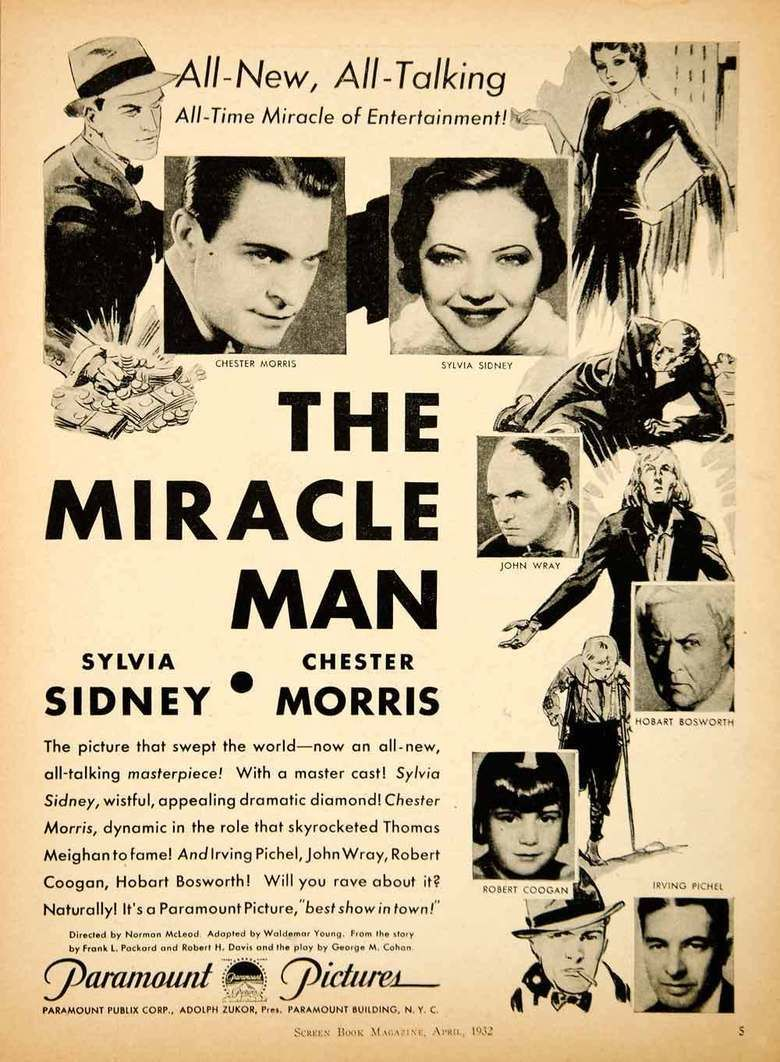 The Miracle Man (1932 film) movie poster