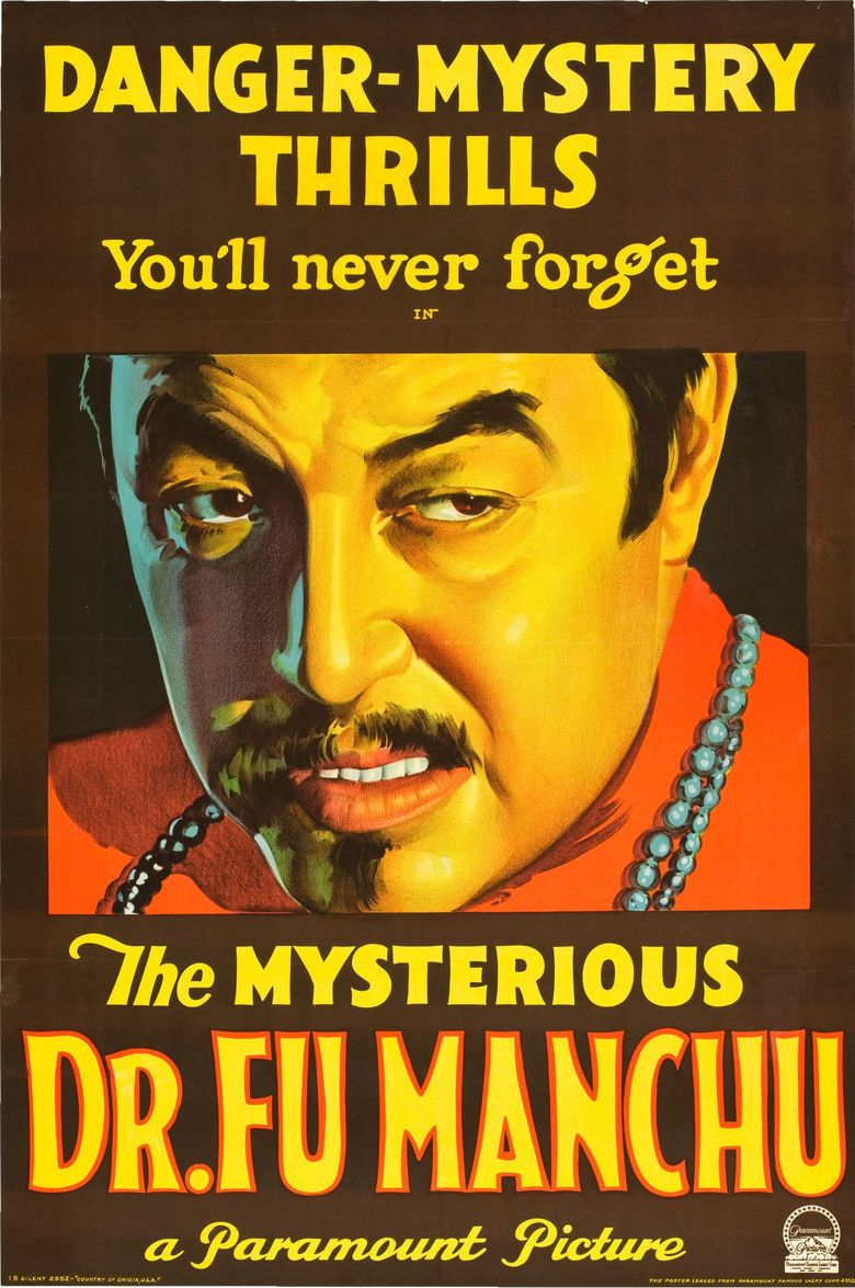 The Mysterious Dr Fu Manchu movie poster