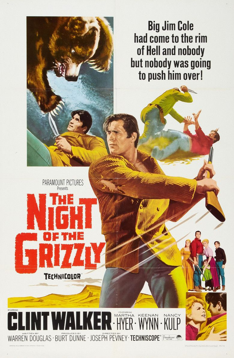 The Night of the Grizzly movie poster