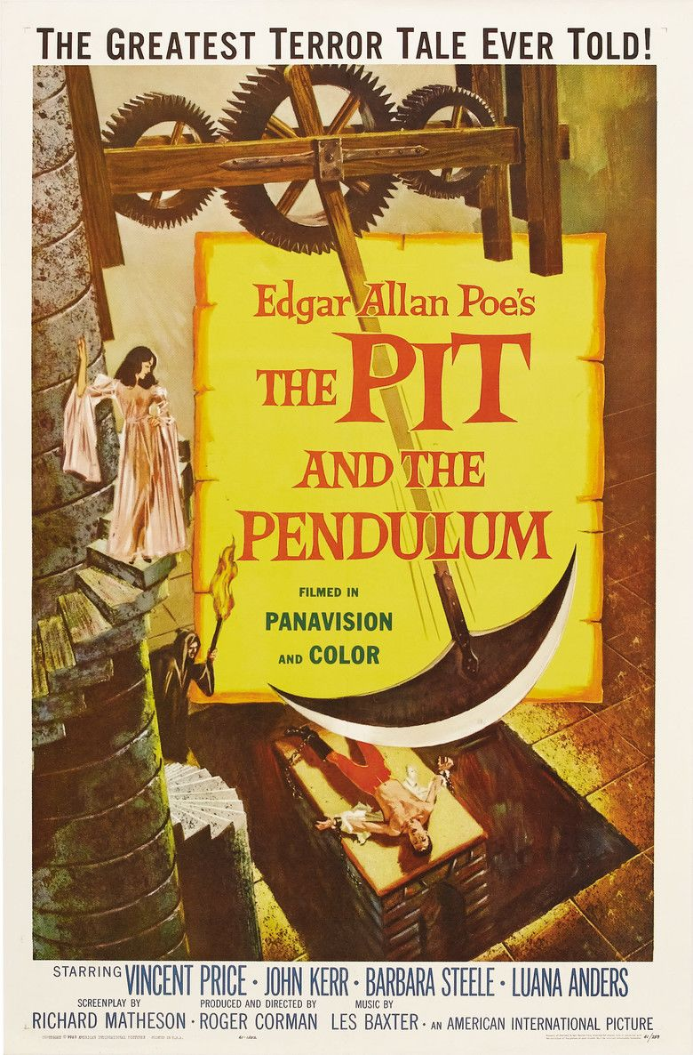 The Pit and the Pendulum (1961 film) movie poster