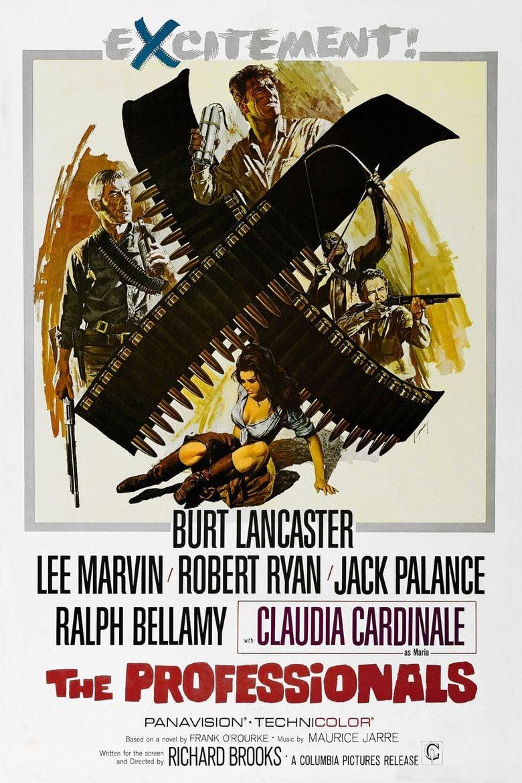 The Professionals (1966 film) movie poster