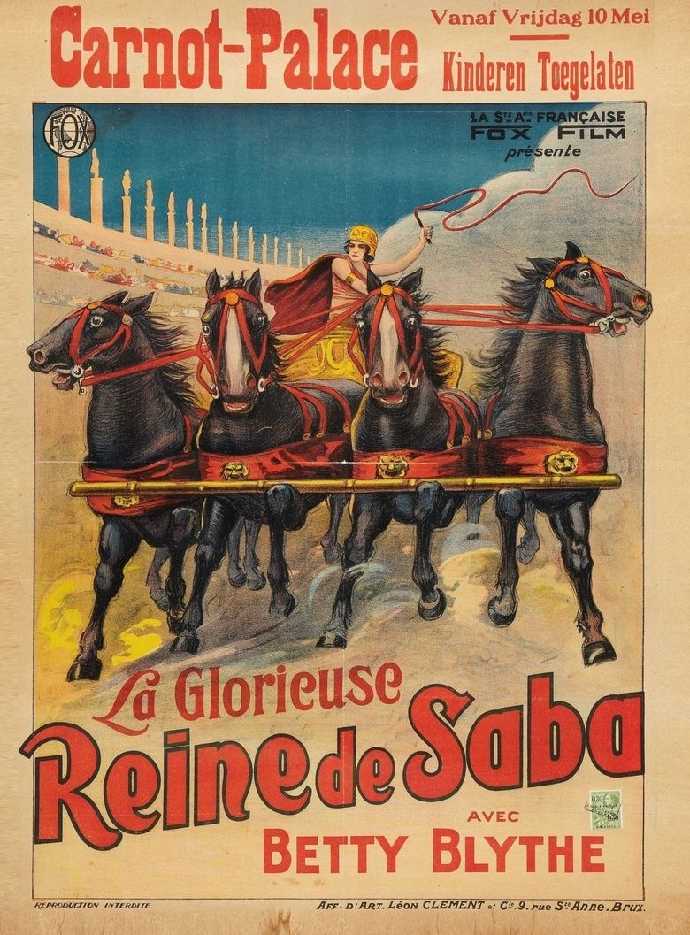 The Queen of Sheba (1921 film) movie poster