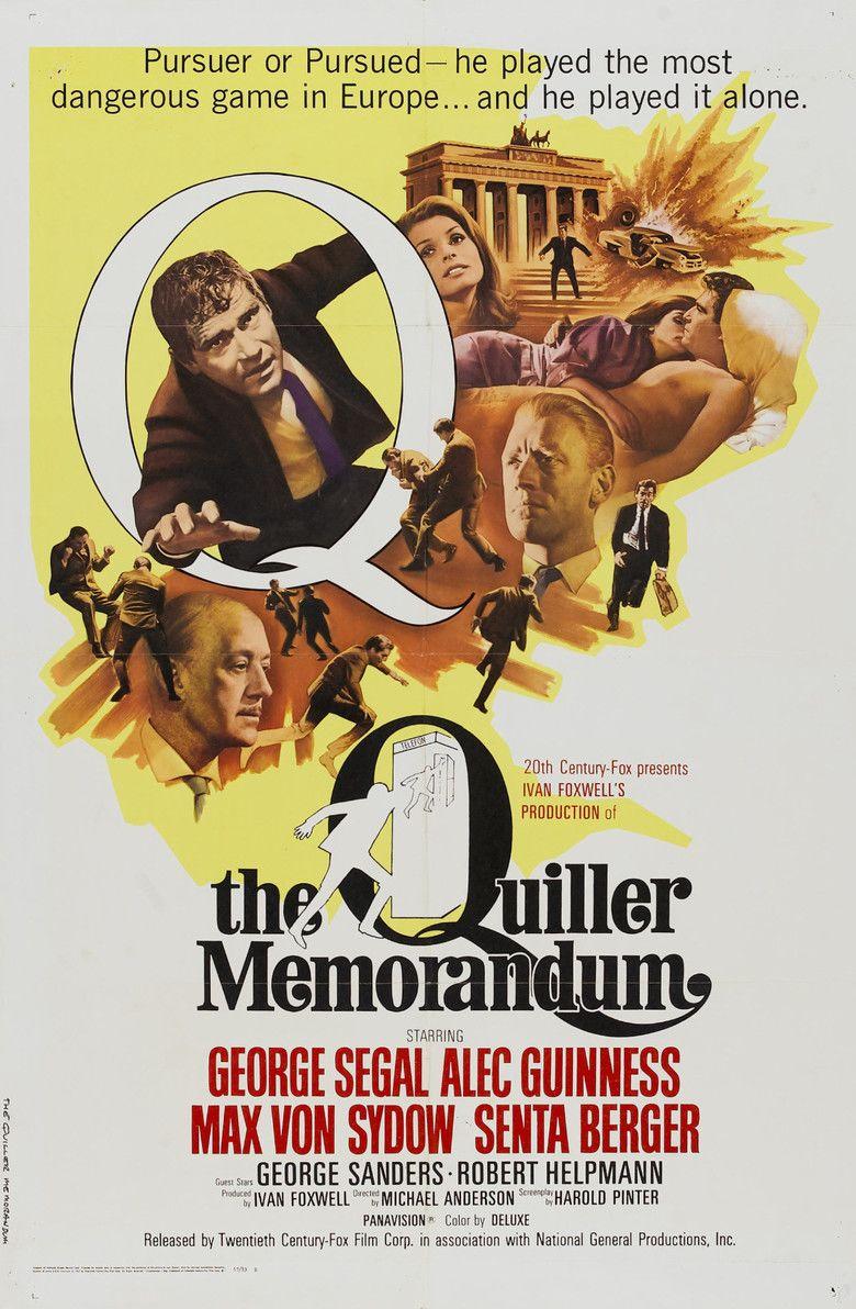 The Quiller Memorandum movie poster