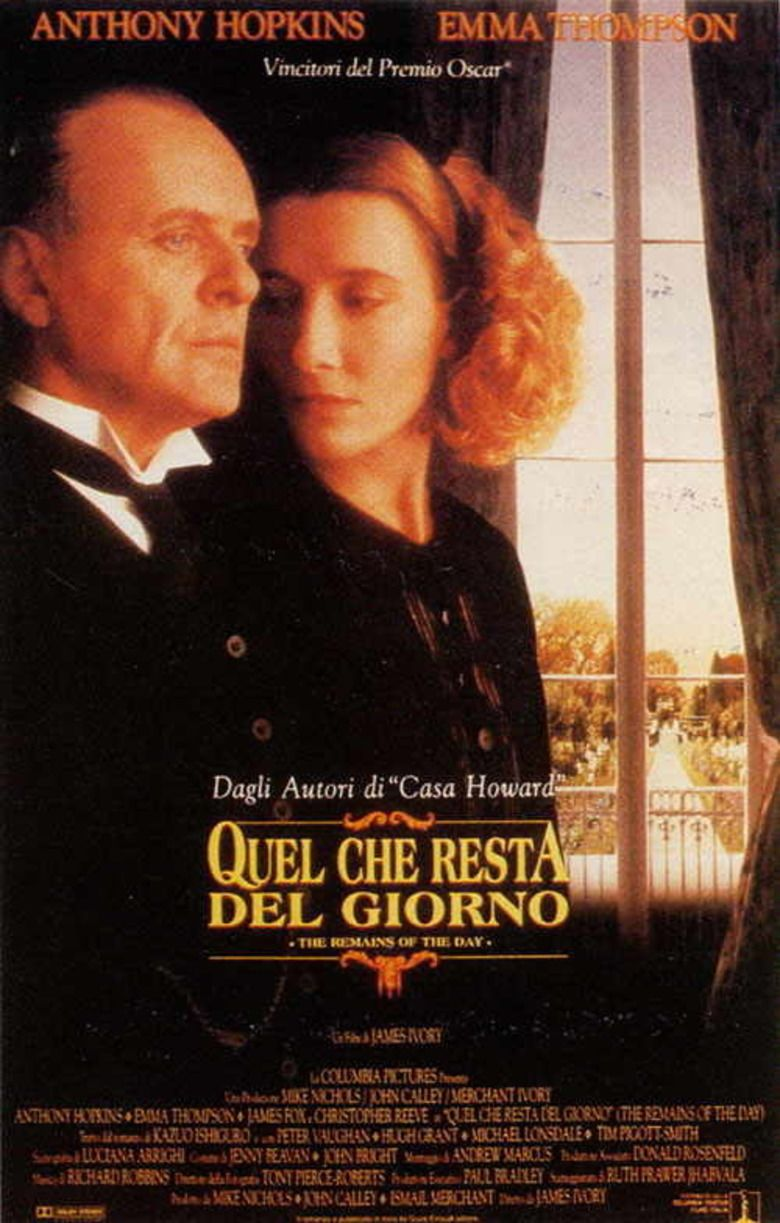 The Remains of the Day (film) movie poster