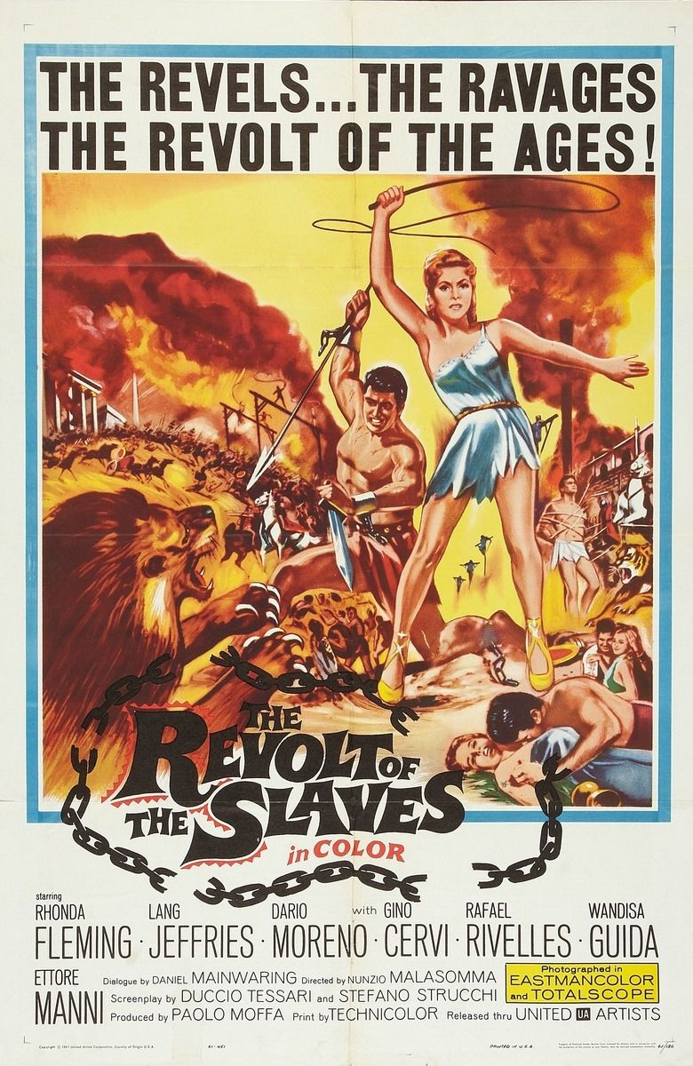 The Revolt of the Slaves movie poster