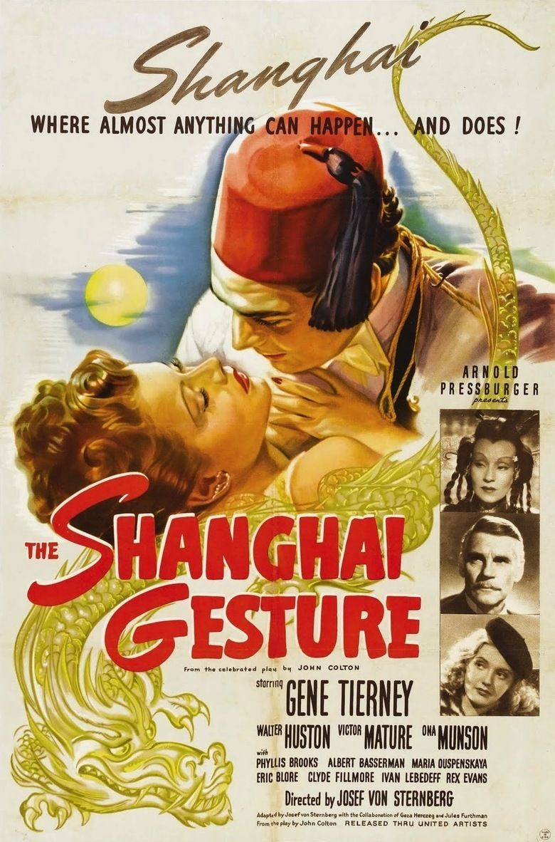 The Shanghai Gesture movie poster