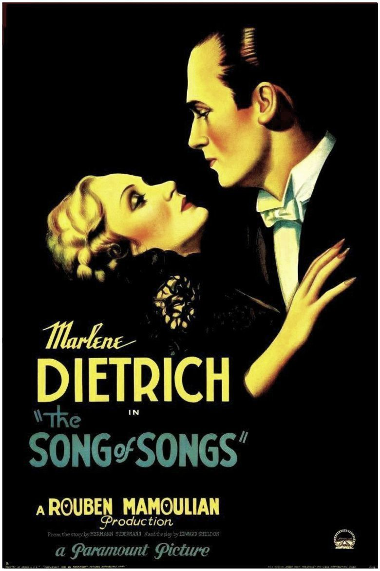 The Song of Songs (1933 film) movie poster