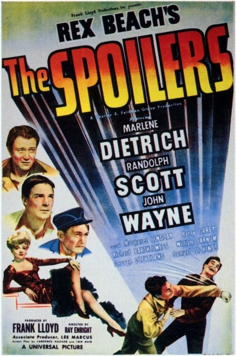 The Spoilers (1942 film) movie poster