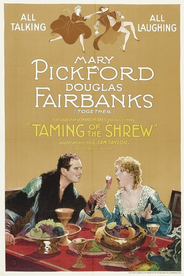 The Taming of the Shrew (1929 film) movie poster