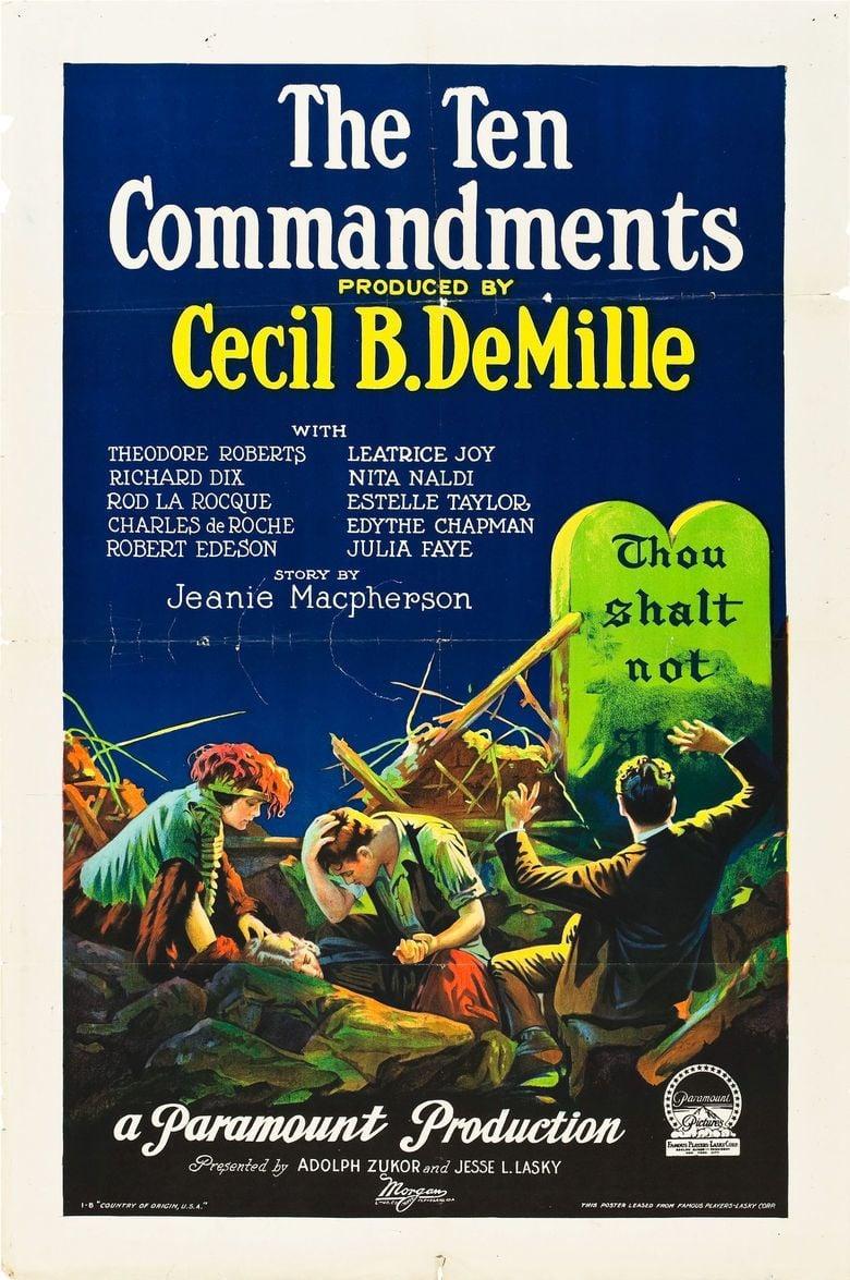 The Ten Commandments (1923 film) movie poster