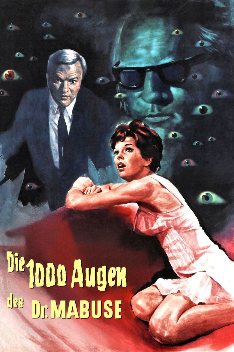 The Thousand Eyes of Dr Mabuse movie poster