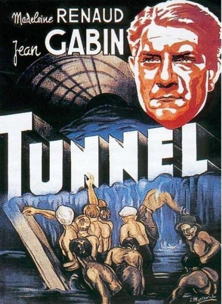 The Tunnel (1933 French language film) movie poster