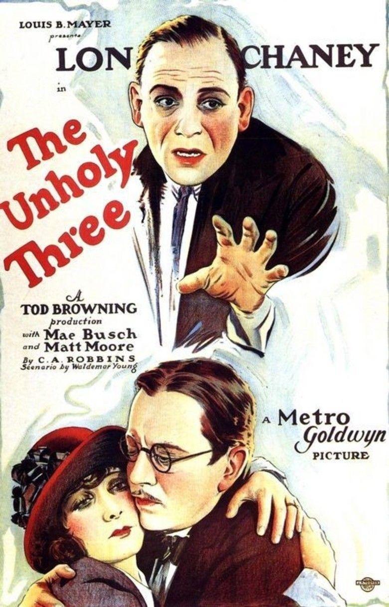 The Unholy Three (1925 film) movie poster