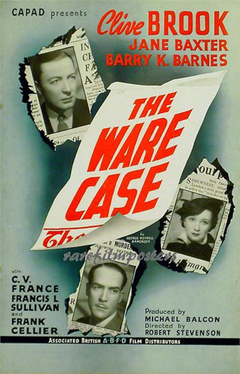The Ware Case (1938 film) movie poster