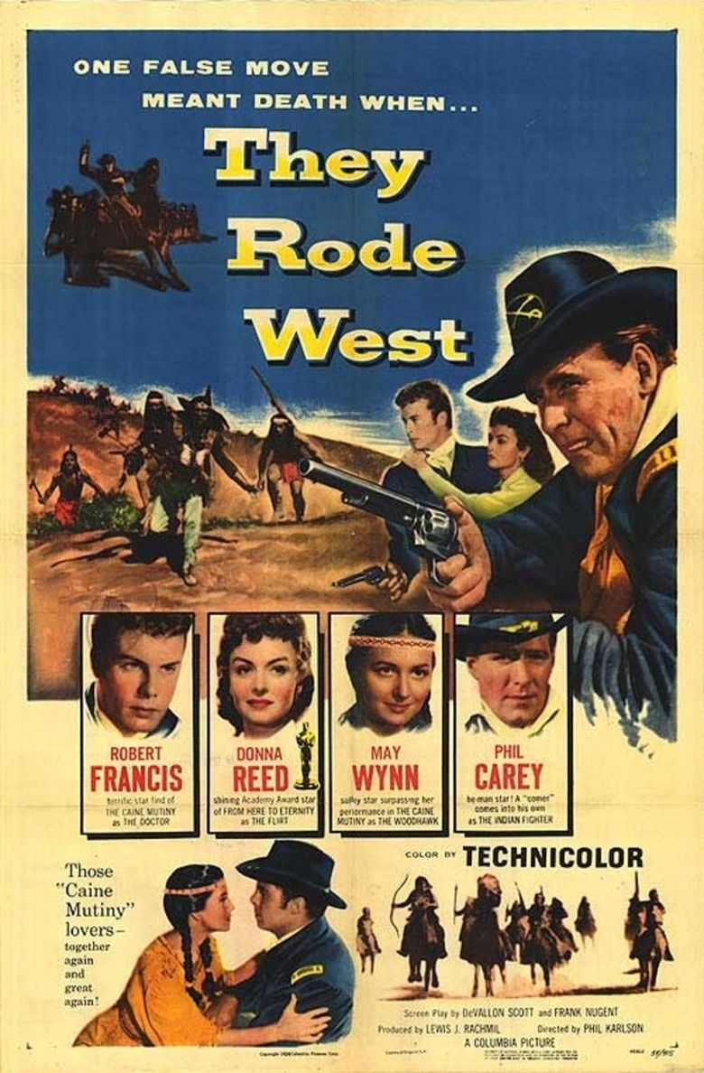 They Rode West movie poster