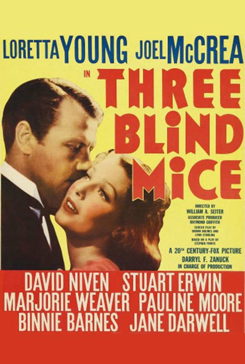 Three Blind Mice (1938 film) movie poster